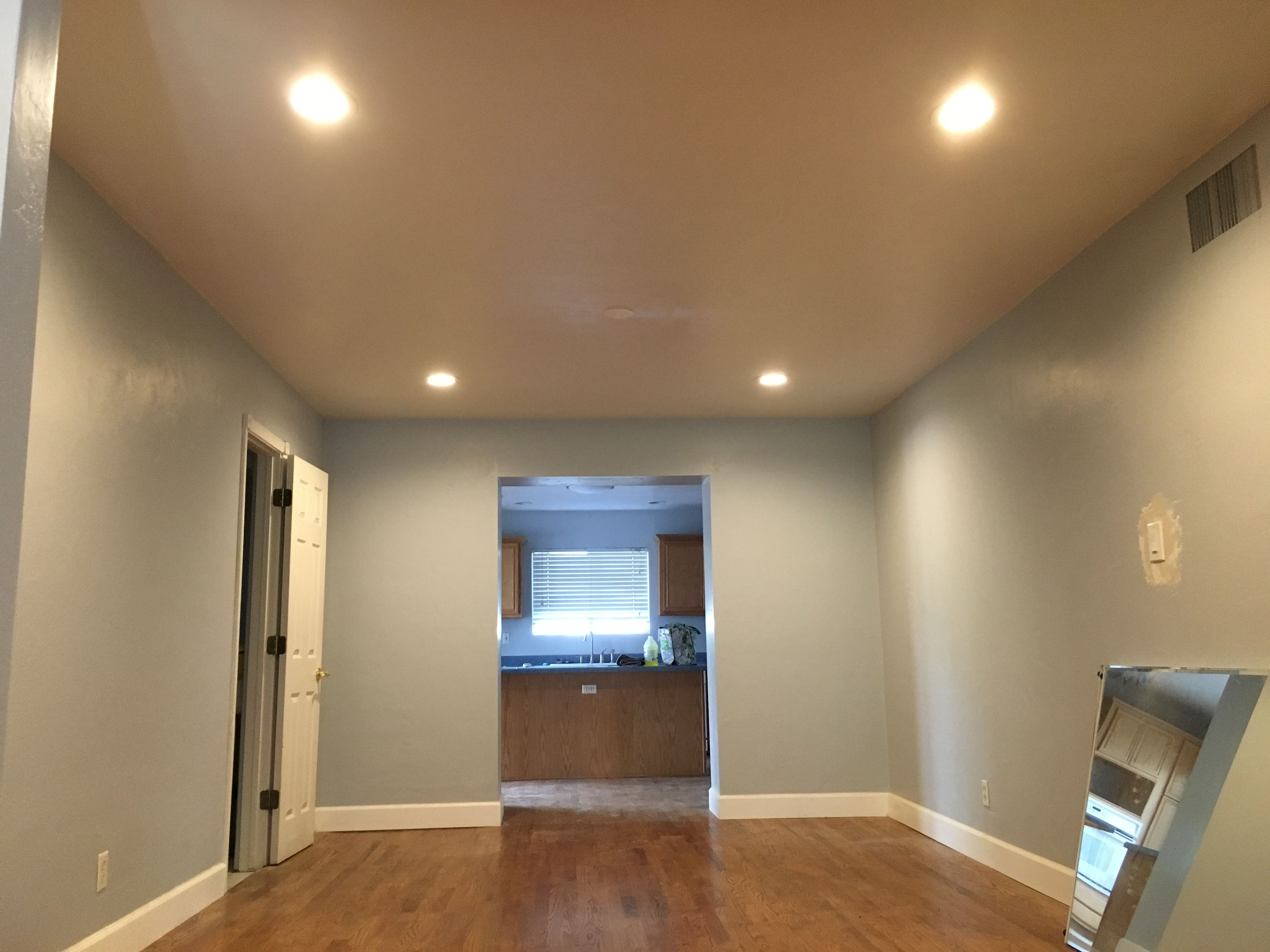 installed 4 x 6 inch recessed lights