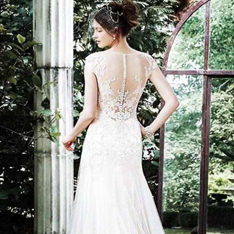 An illusion back to die for from @maggiesottero #wedding #weddingdress #illusionback #details #embellishment #gown #dress #bride #bridetobe via @angela4design
