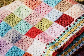 Diaper Mum : Gaint Granny Patch Blanket - Ta-daah!!