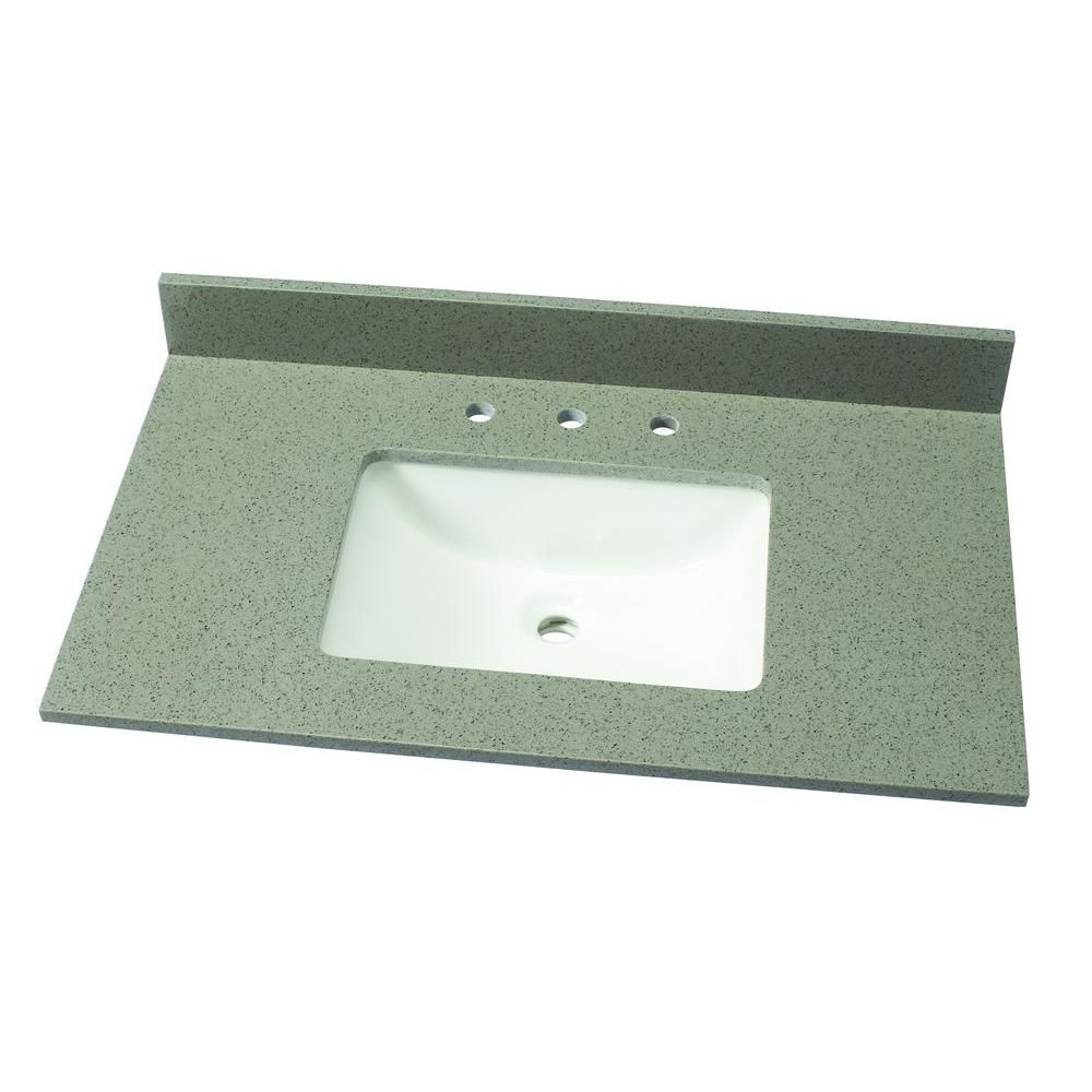 Home Decorators Collection 49 In W Quartz Single Vanity Top In