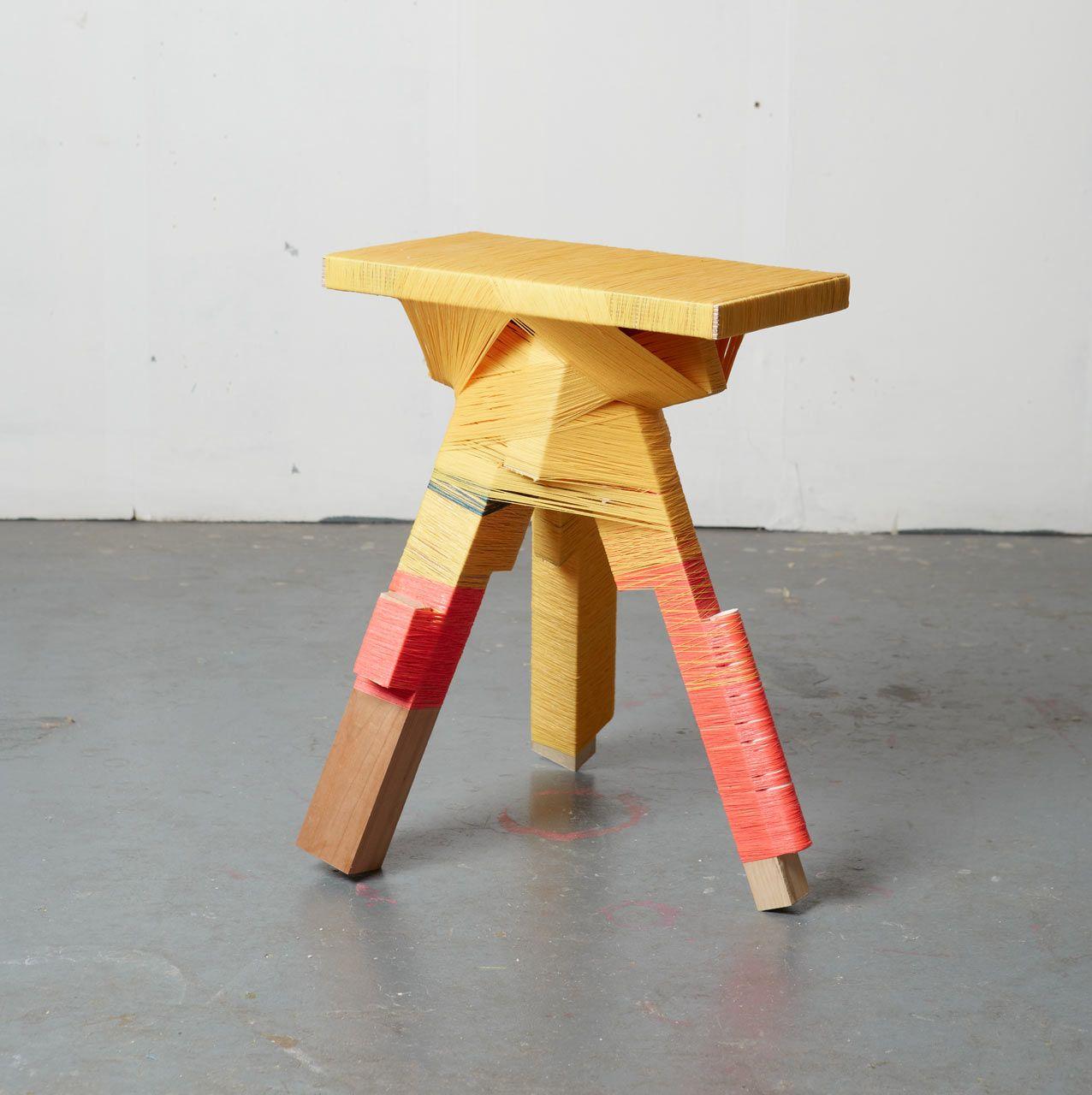 Anton_alvarez Thread Wrapping 5 Anton Wraps And Wood Furniture # Muebles Liga Trace