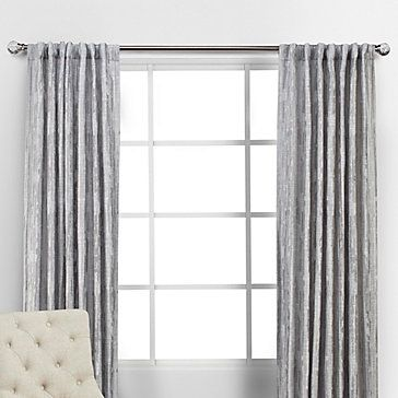 Pali Panels Silver Silver Curtains Grey Walls Living