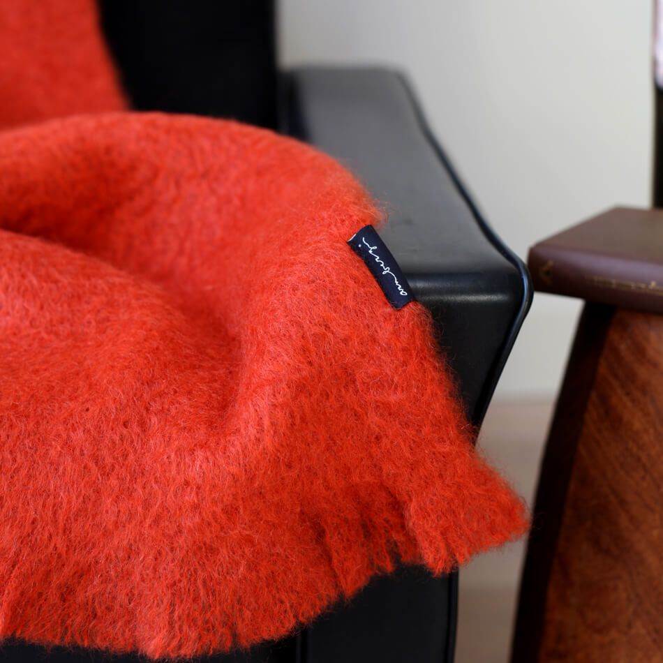 Wolldecke In Orange Wolldecke Decke Alpaka Decke