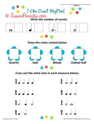 Printables Rhythm Worksheet i can count rhythm a beginning worksheet music lessons today am posting the second in my can