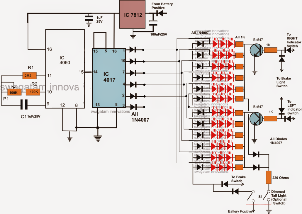 Pin By Michael Ray Jenkins On Cars Circuit Projects Led Projects Tail Light