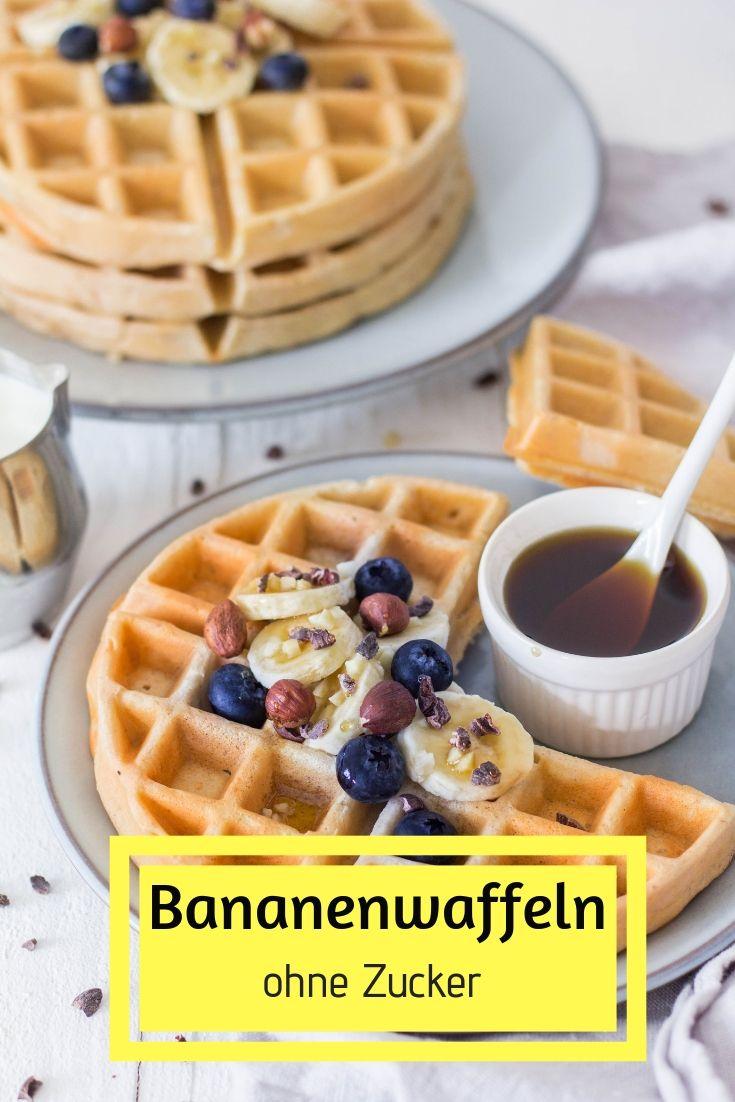 Bananenwaffeln ohne Zucker - schnell & einfach ⋆ Lieblingszwei.de
