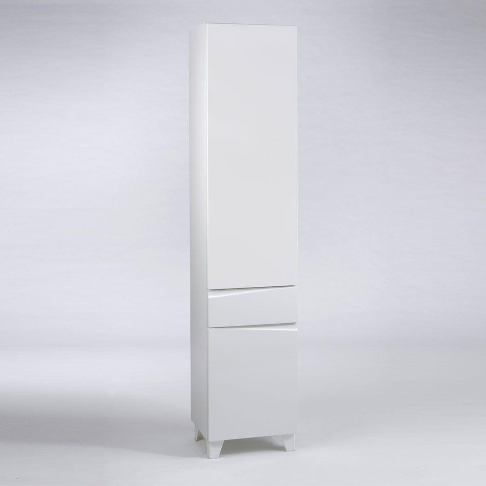 Badezimmer Hochschrank in Weiß Hochglanz 40 cm breit Jetzt bestellen ...