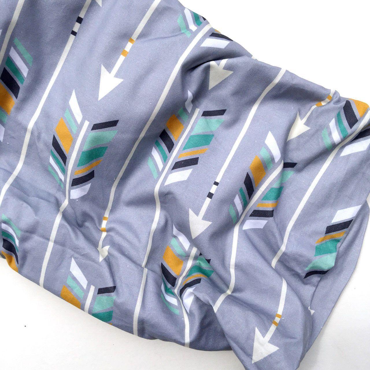 Crib Sheet Gray Woodland Arrows // Ready to Ship