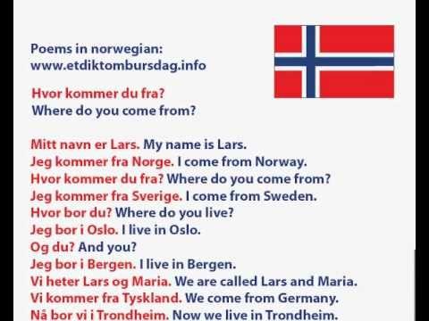 Photo of Norwegian language – Hvor kommer du fra? Where do you come from?