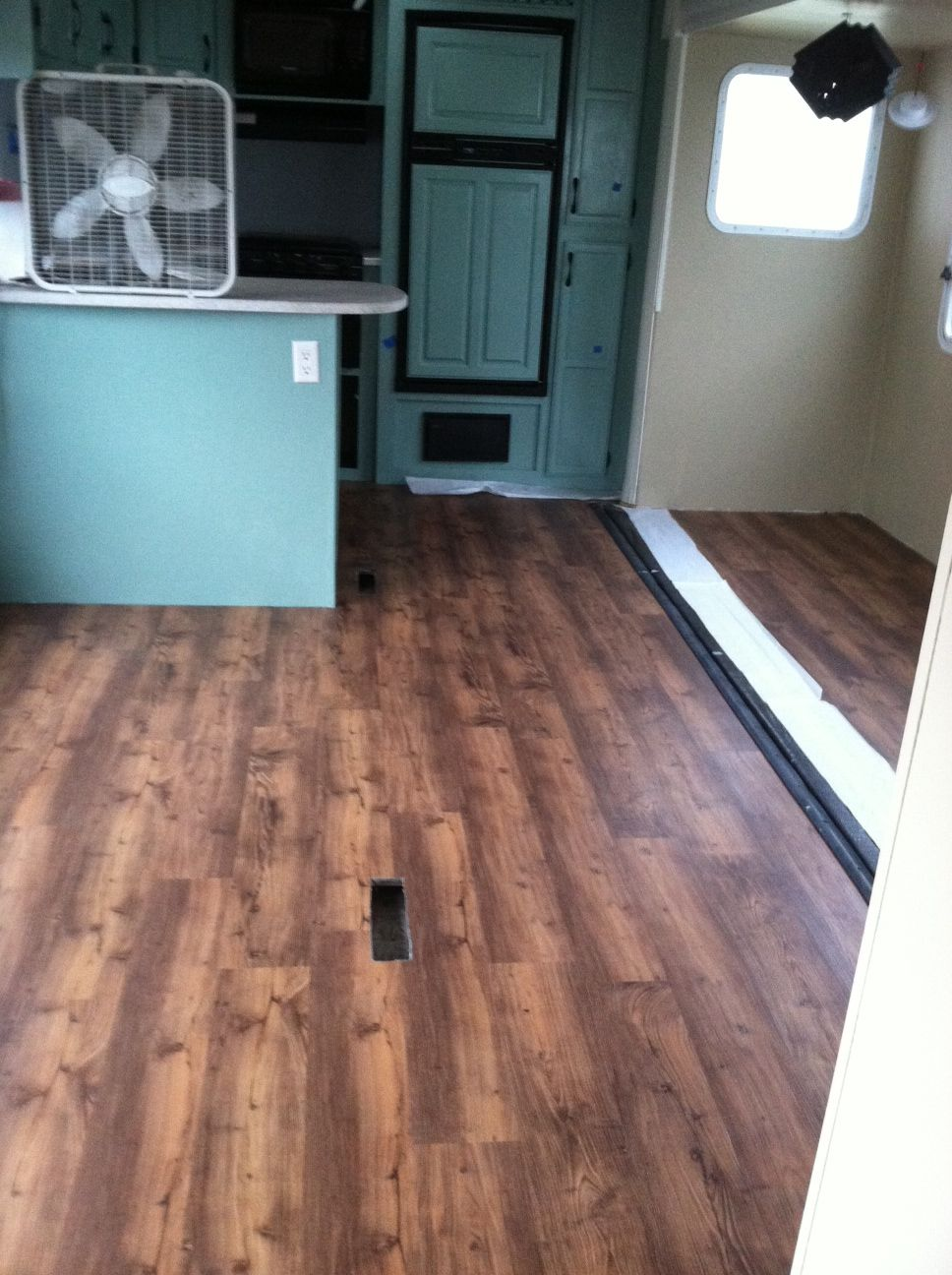 The new flooring is going in TrafficMaster Allure