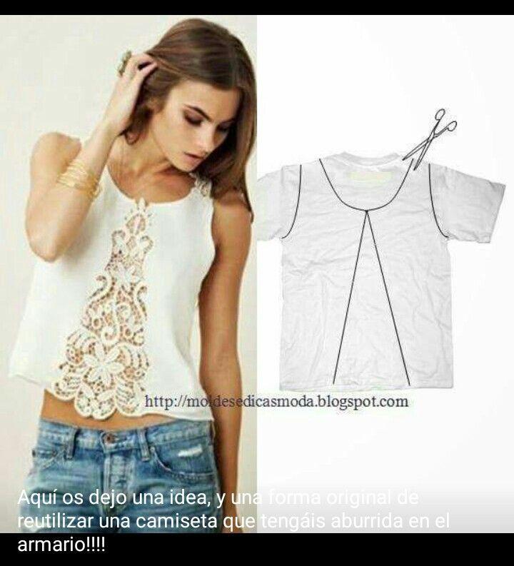 Pin de Simona en Idee utili | Pinterest | Camisas, Camisetas y Costura