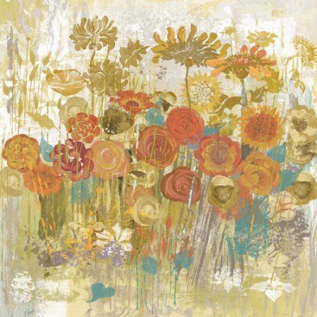 Marmont Hill Floral Frenzy Painting Print on Canvas, Multicolor