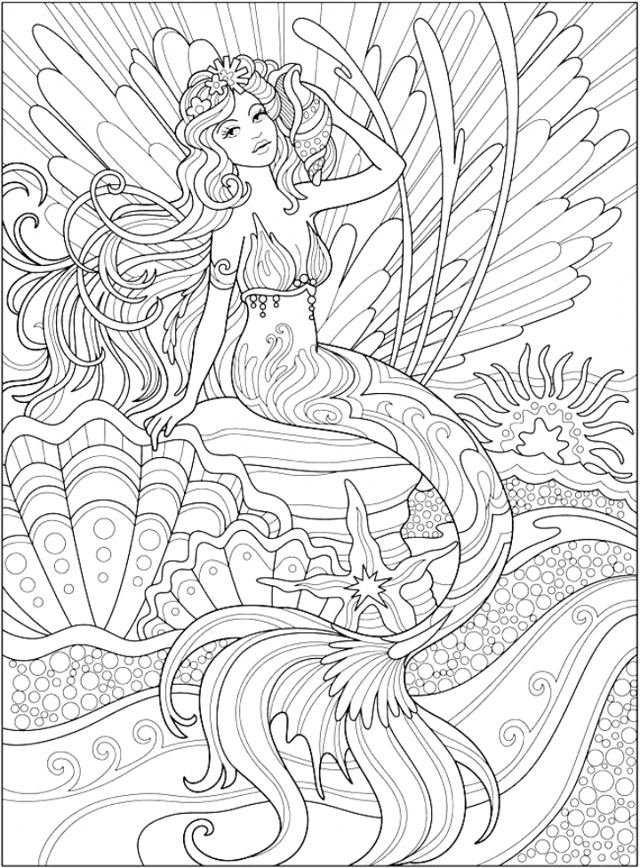 Welcome To Dover Publications Ch Magnificent Mermaids Coloring In 2020 Mermaid Coloring Book Mermaid Coloring Pages Mermaid Coloring