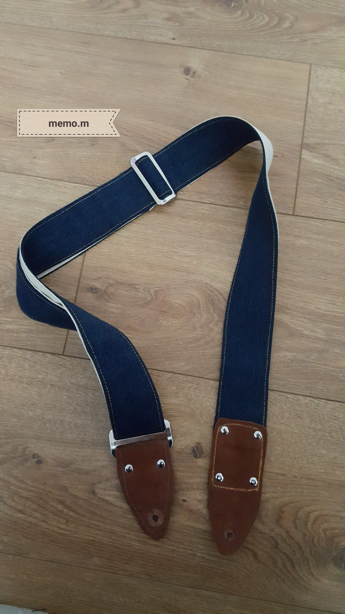 diy denim guitar strap made by memo.m | guitar stuf | pinterest | guitar