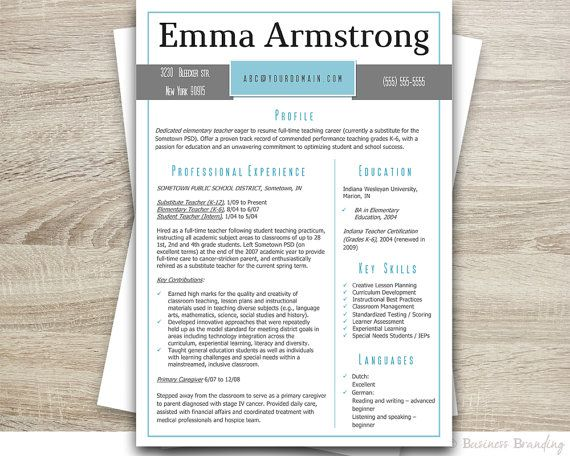 Classy Resume Template \/ Instant Download Resume Cover Letter - download resume template word