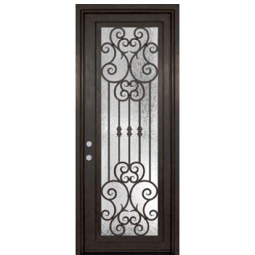 Glasscraft Doors Full Lite Single Marbella 42 Iron Door Design