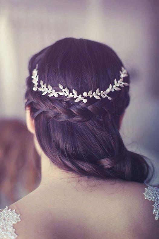 77938257c97297 Silber Braut Haarschmuck, Bräute Headpieces, sanfte Silber Leafs Haar  Kranz, silberne Hochzeit Stirnband