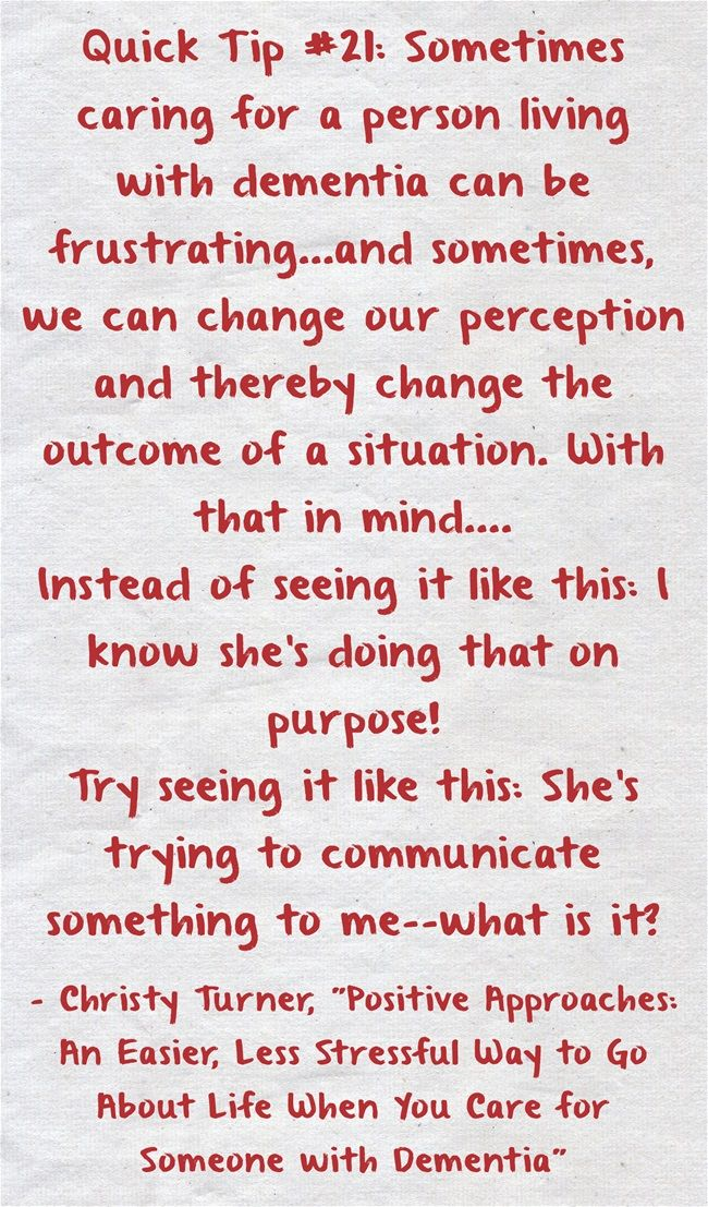 Change in Perception #quicktip #21 #communication #dementia #ctcdcm #perception #whatisit Visit our website at http://www.CTCDementiaCareManagement.com