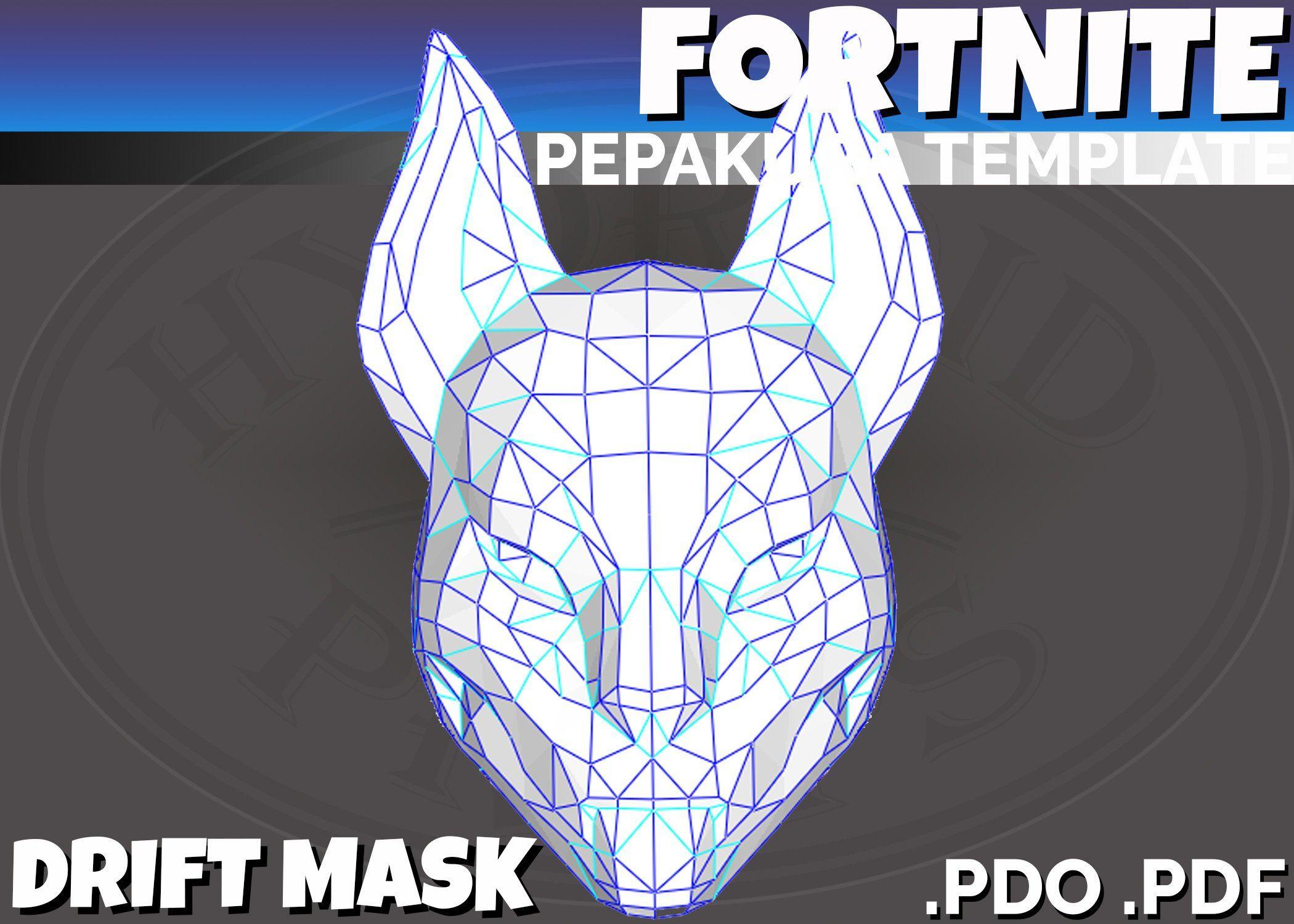 Template Fortnite Papercraft