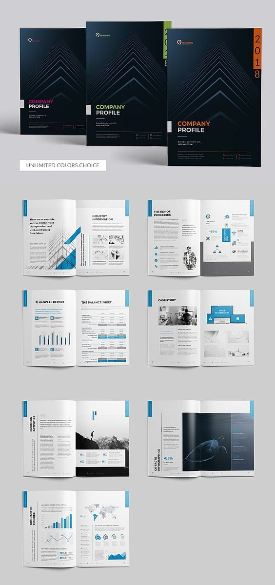 100+ Modern Corporate brochure design templates free ...