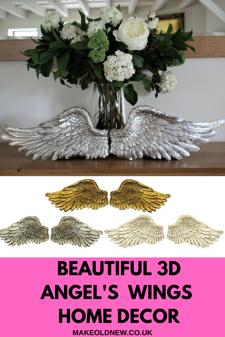 Looking for a beautiful and original wall decoration, but not sure exactly what you want? Maybe it is time to try something different like a 3D art! #3dwalldecor #3dart #3dsculpt #3dwings #angelswings #angelwings #angelwingsart #angelsarenear #musthavedecor #musthaveart #beautifulbedroomdecor #bedroomart #decorateyourhome #pairofwings #peacefuldecor