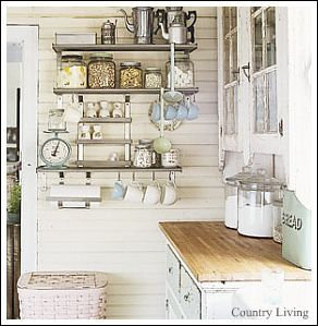 White Country Cottage Kitchen