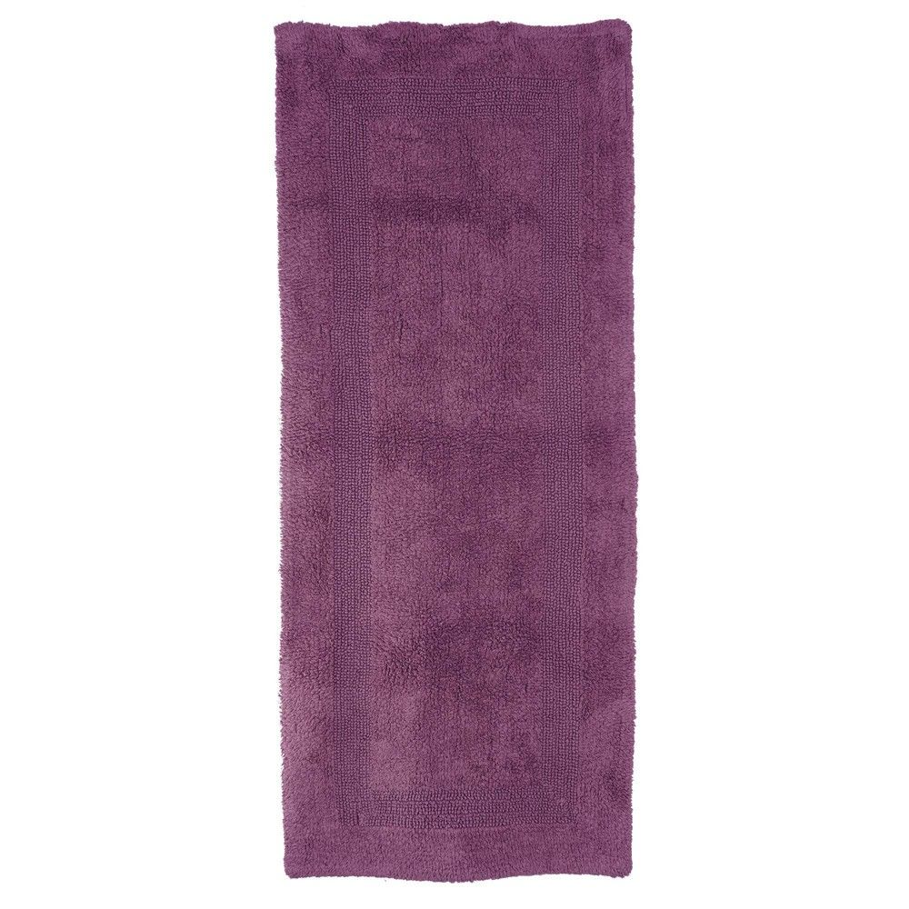 24 X60 100 Cotton Reversible Bath Mat Purple Hastings Home Reversible Bath Mat Purple Bath Mat Long Bath Rugs [ 1000 x 1000 Pixel ]