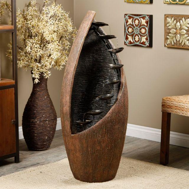 Beautiful Zimmerbrunnen Form modern Holz Metall Schalen Design rustikal