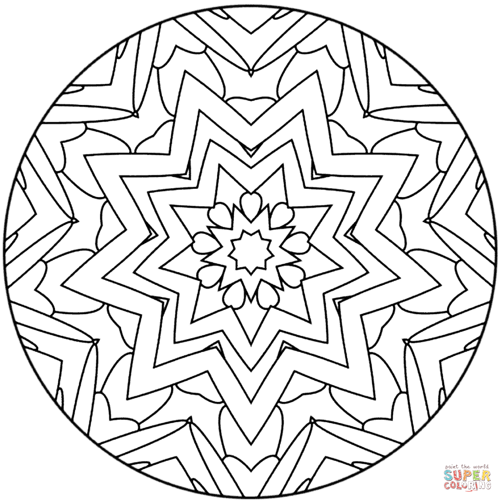 Star Mandala Super Coloring Mandala Coloring Pages Mandala Coloring Coloring Pages