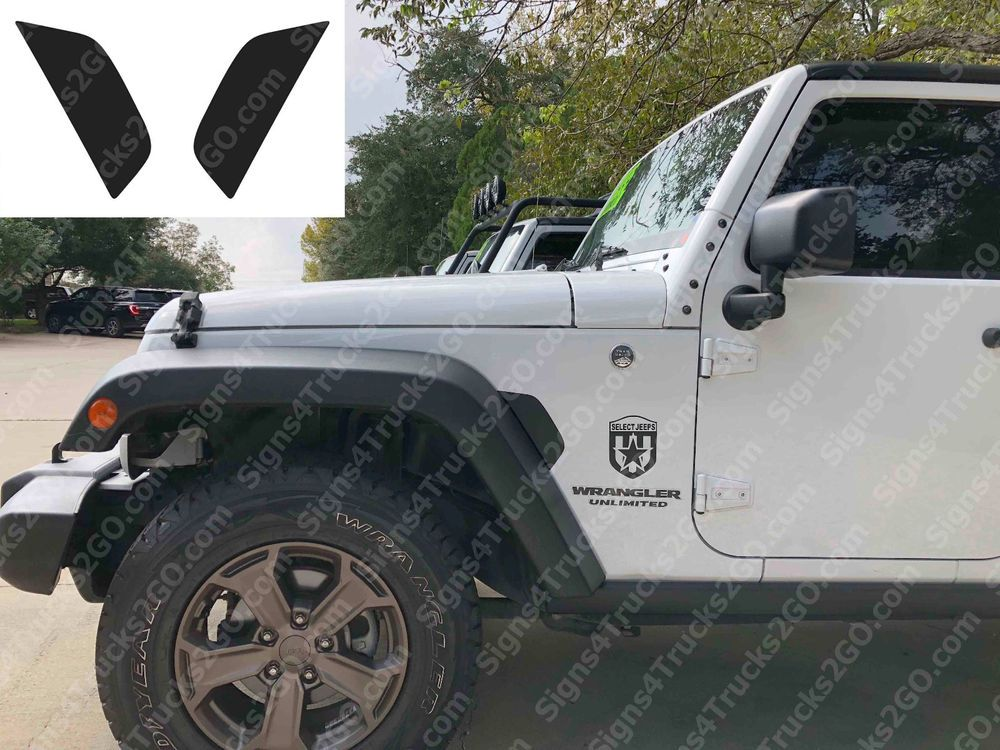 0730 2pcs Air Vent Imitation Flow Fender Decal Jl Style Jeep