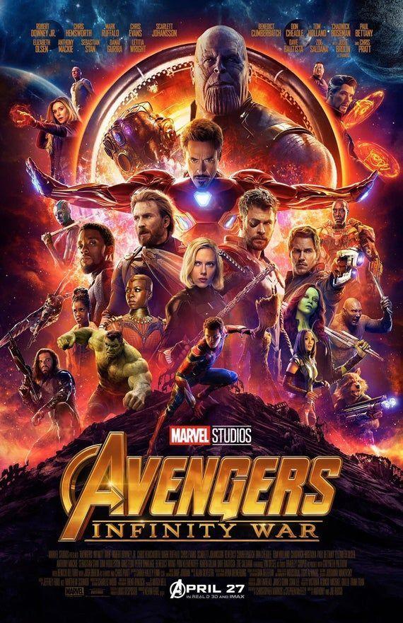Avengers Infinity War  11x17 Framed Movie Poster | Etsy
