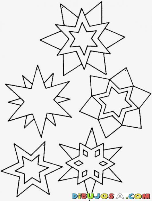 Colorear Estrellas De Navidad Colorear Dibujos De Navidad Colorear Estrellas De Nav Christmas Ornament Template Christmas Coloring Pages Ornament Template