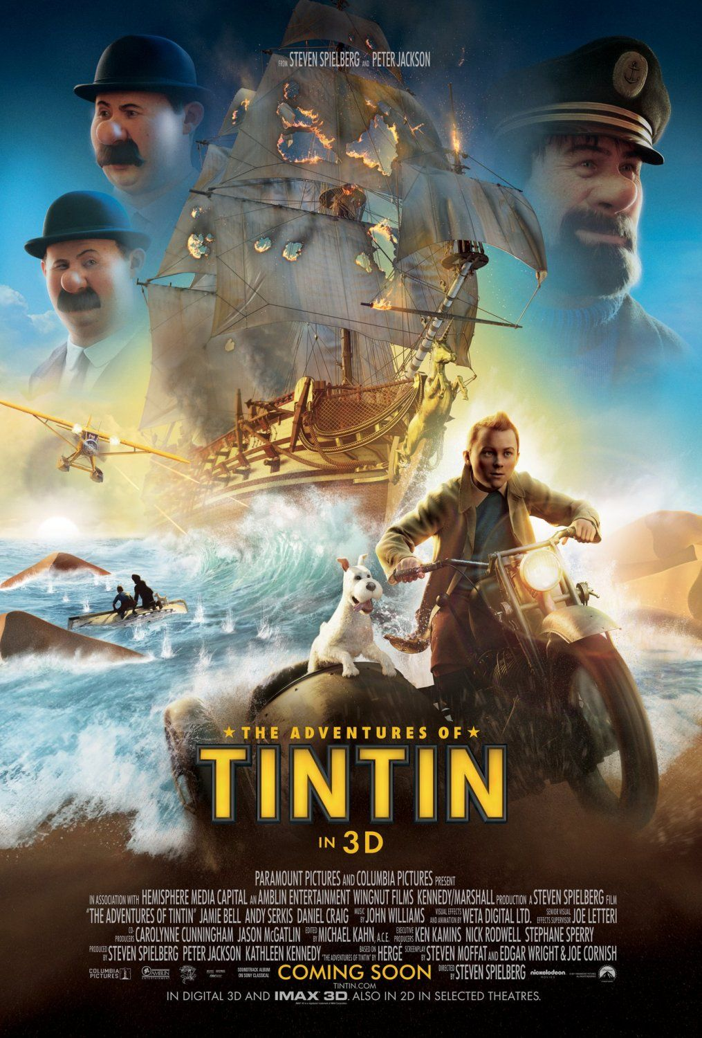 The Adventures Of Tintin The Secret Of The Unicorn Com Imagens