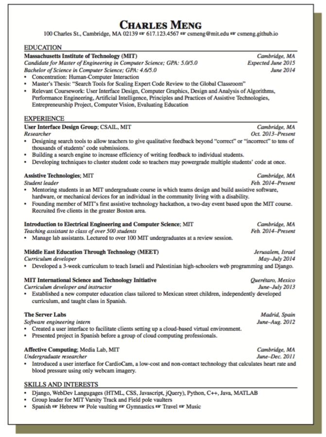 Sample Resume for Student Leader - http://exampleresumecv.org/sample ...
