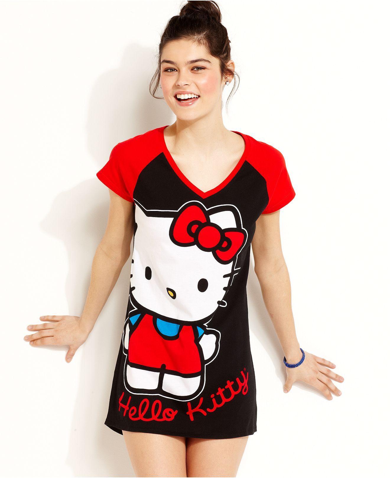 Age Group Pajamas, Hello Kitty Addiction Sleepshirt - Juniors ...