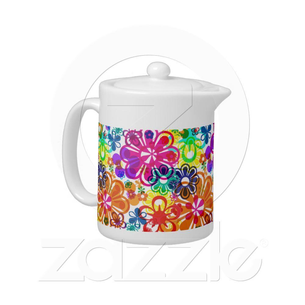 Psychodelic Flowers teapot: for sale on zazzle