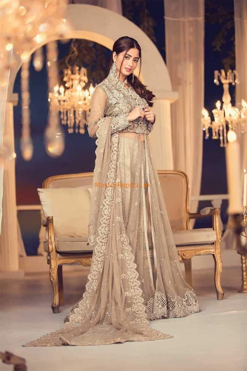 Maria B Latest Mct 5 Embroidered Net Collection 2018 Replica