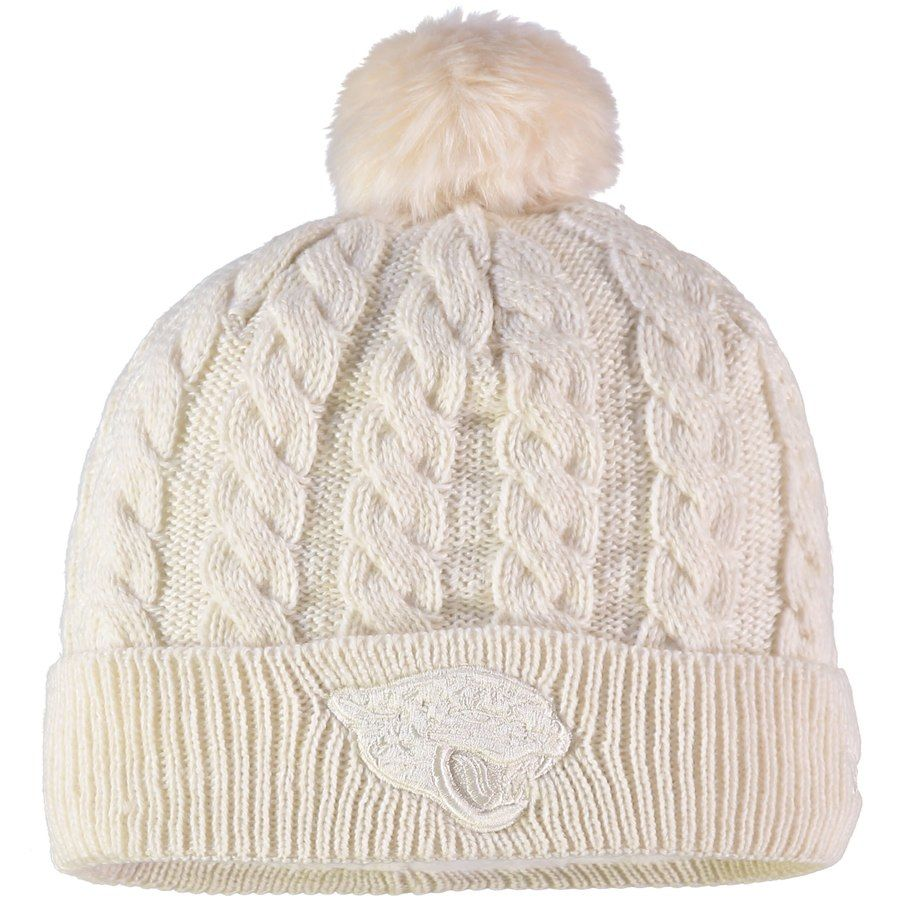 more photos 4c998 f4e2a Women s Jacksonville Jaguars New Era Cream Walcott Cuffed Knit Hat with  Pom, Your Price   25.99