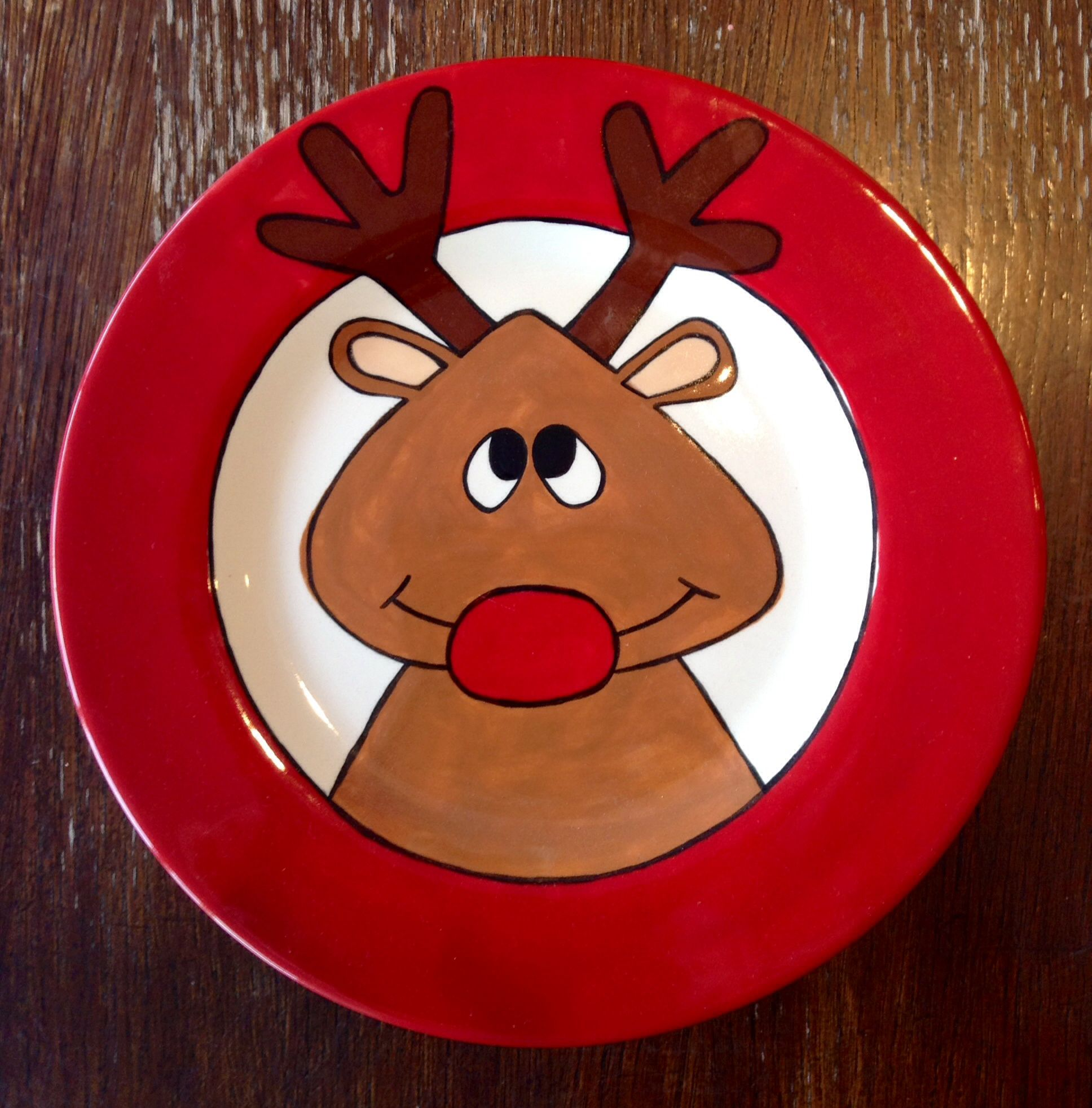 reindeer plate paint your own pottery paint your pot cary north carolina