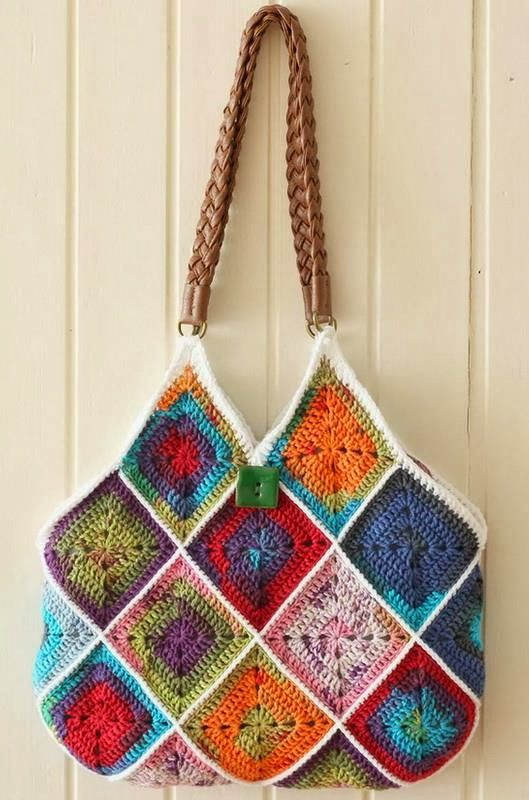 Stylish Easy Crochet Crochet Handbag Pattern Square Crochet Motif