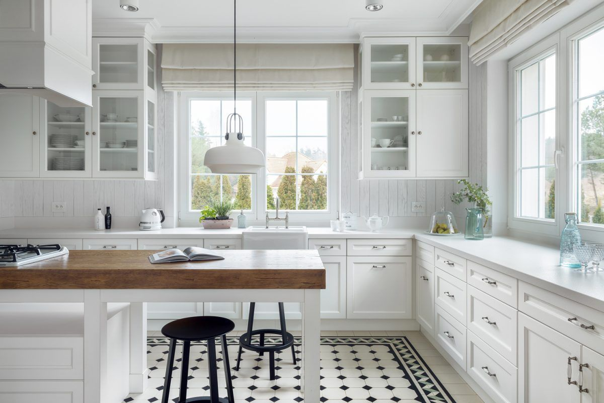 Jakie Plytki Na Podloge W Kuchni Wybrac Kitchen Cabinets Decor Kitchen Cabinet Remodel Cherry Wood Kitchen Cabinets