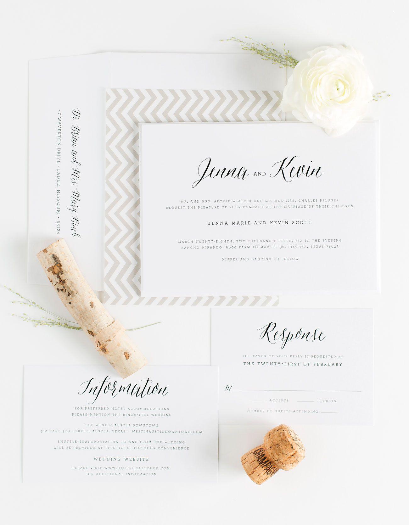 Romantic Neutral Wedding Invitations | Shine wedding invitations ...