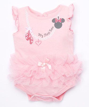 b53afb4bc9fc Look at this  zulilyfind! Pink Minnie Ruffle Bodysuit - Infant by ...