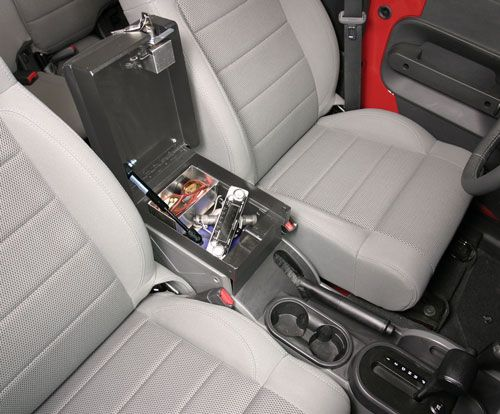 Console Insert By Tuffy Security Products For 2 Or 4 Door Jeep Wrangler Jk 2007 2010 Jeep Interiors Jeep 4 Door Jeep Wrangler