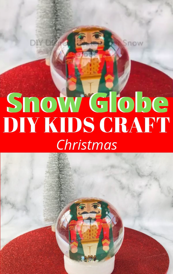 Let the kids have fun with this easy Christmas craft! These DIY snow globes are fun to make and perfect for older kids to make for the holiday season.  #Christmas #ChristmasCraft #DIY #SnowGlobe #DisneyCraft #DisneyChristmas #DIYChristmas #ChristmasCraftIdea