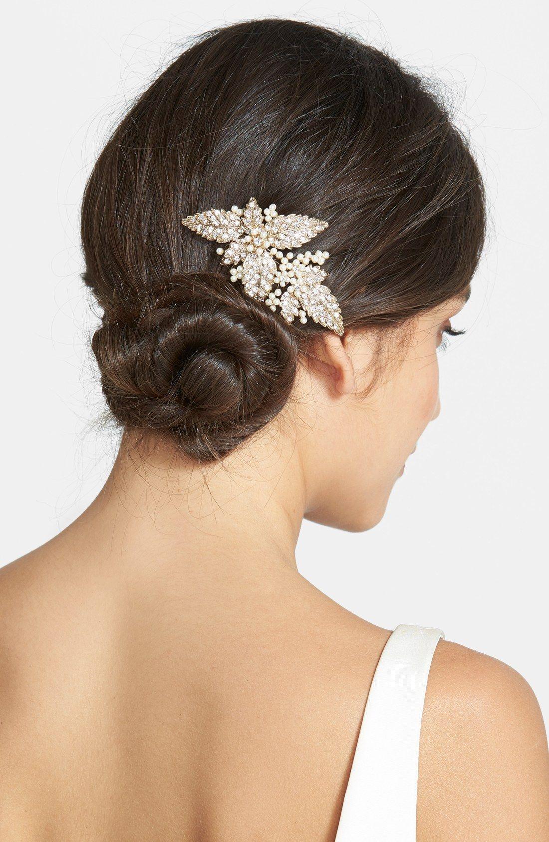 wedding belles new york glass pearl hair comb | wedding hair