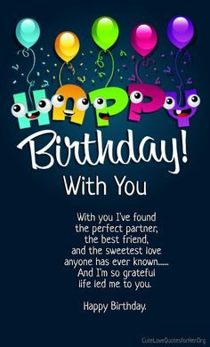 12 Happy Birthday Love Poems For Her Him With Images With