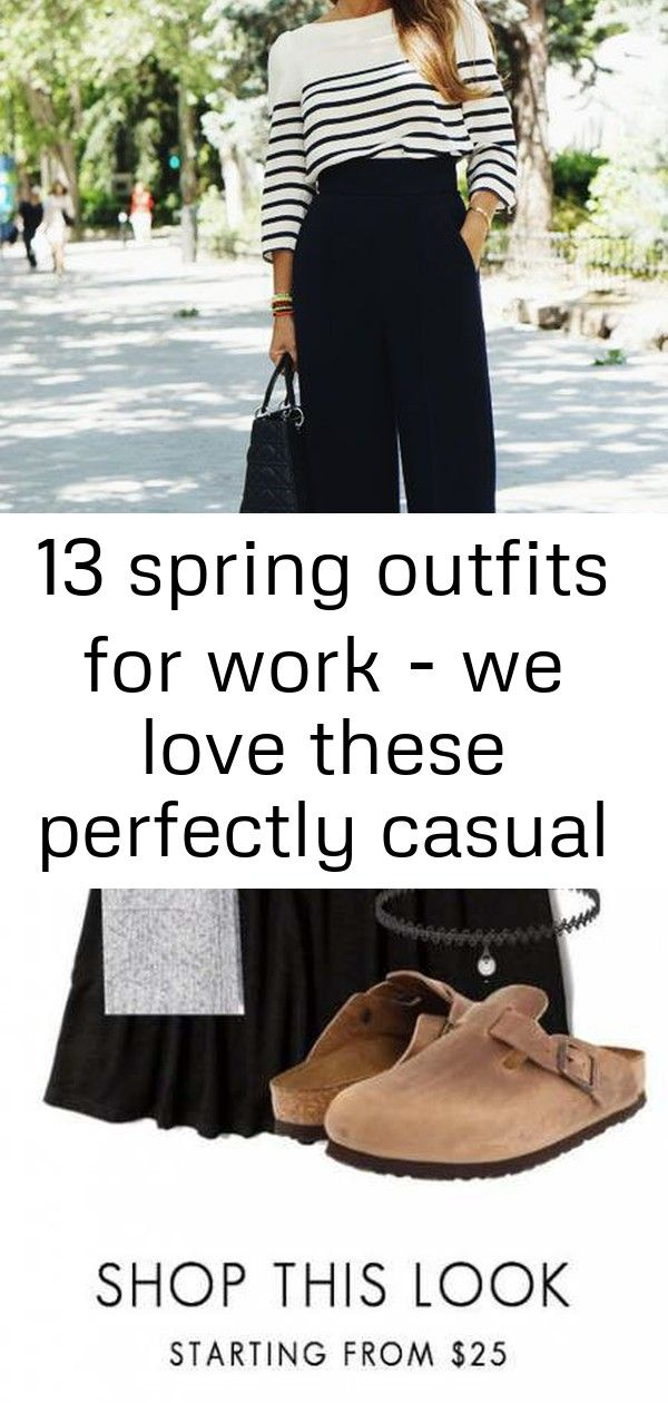 13 spring outfits for work - we love these perfectly casual business attire for young professionals #businesscasualoutfitsyoungprofessional
