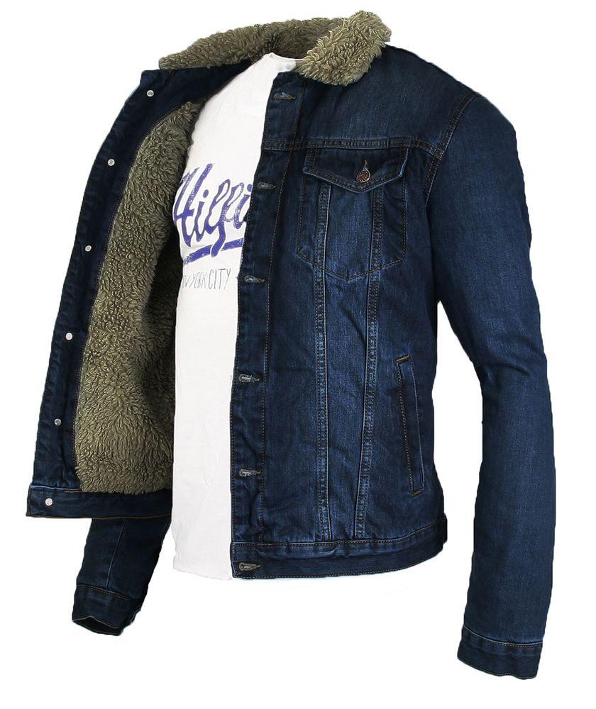 dd5bcef87fc3 Details zu Rock Creek Jeans jacke mit Tedyfell Winter Jacke - M-L-XL ...