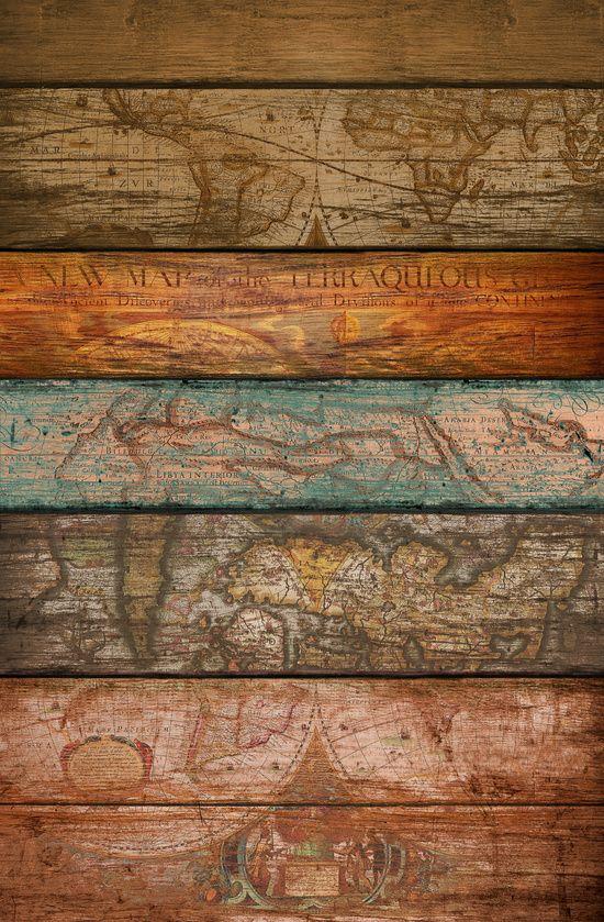 Mapas Art Print By Maximilian San Wood Wallpaper Vintage Antique Logo